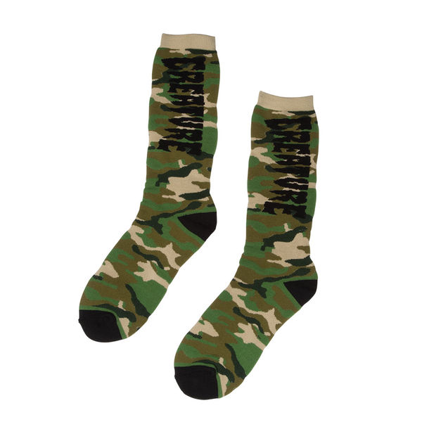 CREATURE / RATION CREW SOCKS (GREEN CAMO)