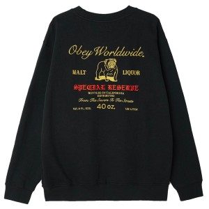 OBEY / SPECIAL RESERVE CREW SWEAT (BLACK)