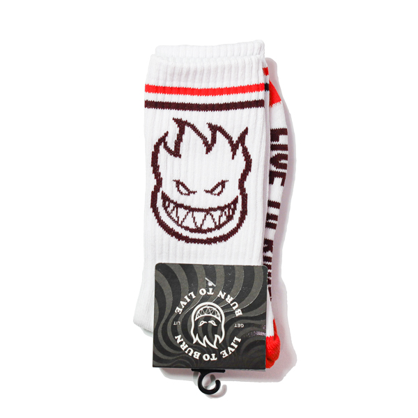 SPITFIRE / BIGHEAD SOCKS (WHITE/RED/BURGUNDY)