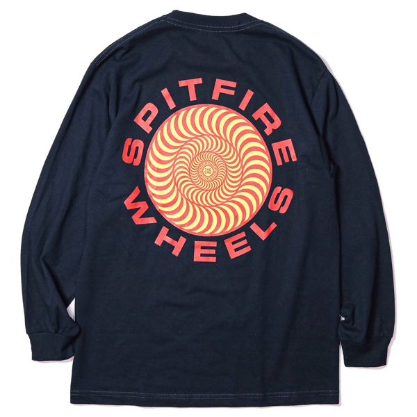 SPITFIRE / CLASSIC 87' SWIRL L/S TEE (NAVY)