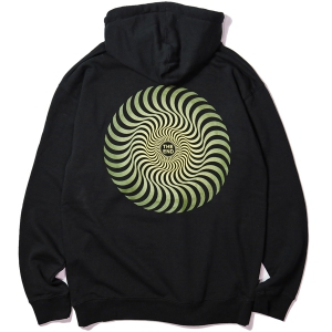 SPITFIRE / CLASSIC SWIRL FADE PULLOVER HOODIE (BLACK)