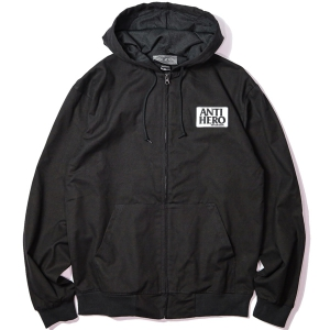 ANTIHERO / RESERVE CUSTOM HOODED ZIP UP JACKET (BLACK)