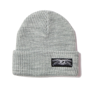 ANTIHERO / STOCK EAGLE LABEL CUFF BEANIE (HEAHTER GREY)