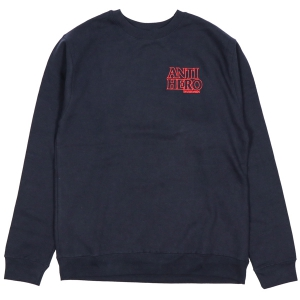ANTIHERO / OUTLINEHERO EMB CREWNECK SWEAT (NAVY)