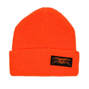 ANTIHERO / STOCK EAGLE LABEL CUFF BEANIE (SAFETY ORANGE)