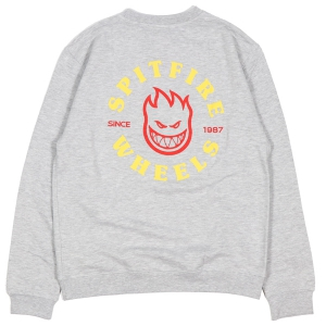 SPITFIRE / BIGHEAD CLASSIC CREWNECK SWEAT (GREY HEATHER)