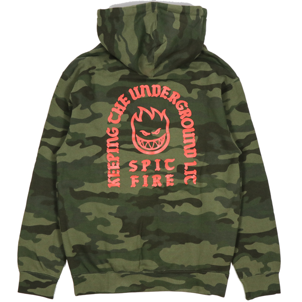 SPITFIRE / STEADY ROCKIN PULLOVER HOODIE (FOREST CAMO)