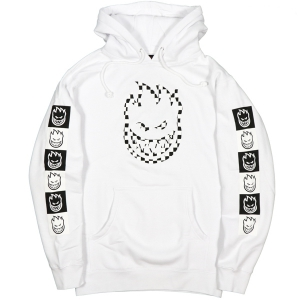 SPITFIRE / BIGHEAD CHECK PULLOVER HOODIE (WHITE)