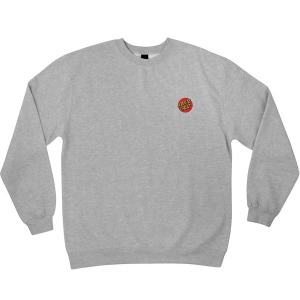 SANTA CRUZ / DOT EMBROIDERY CREWNECK SWEAT (GREY HEATHER)