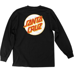 SANTA CRUZ / OTHER DOT L/S TEE (BLACK/WHITE)