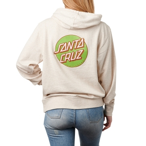 SANTA CRUZ / WOMENS OTHER DOT PULLOVER HOODIE (OATMEAL HEATHER)