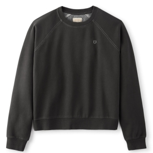 BRIXTON / WOMENS VINTAGE RAGLAN CREW FLEECE (WASHED BLACK)