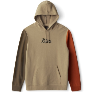 BRIXTON / STITH HOOD FLEECE  (GRAVEL/DARK KHAKI/AMBER)