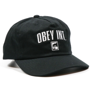 OBEY / INTERNATIONAL STRAPBACK CAP (BLACK)