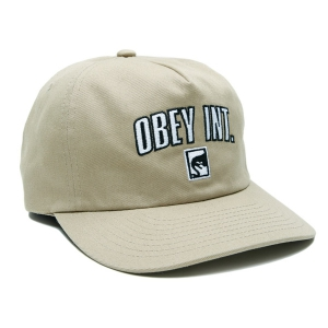 OBEY / INTERNATIONAL STRAPBACK CAP (KHAKI)