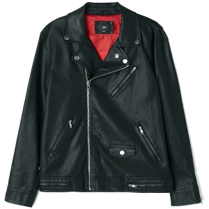 OBEY / BASTARDS PU JACKET (BLACK)