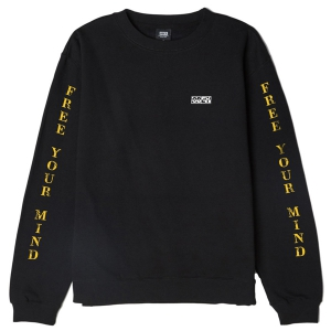 OBEY / FREE YOUR MIND BASIC BOX CREWNECK SWEAT (BLACK)