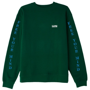 OBEY / FREE YOUR MIND BASIC BOX CREWNECK SWEAT (FOREST GREEN)