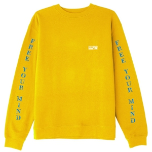 OBEY / FREE YOUR MIND BASIC BOX CREWNECK SWEAT (GOLD)