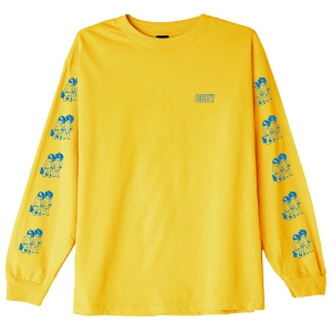 OBEY / CURIOUS KIDDO'S BASIC L/S TEE (GOLD)