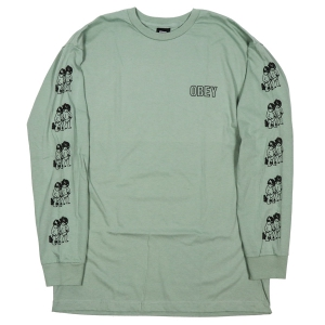 OBEY / CURIOUS KIDDO'S BASIC L/S TEE (SAGE)