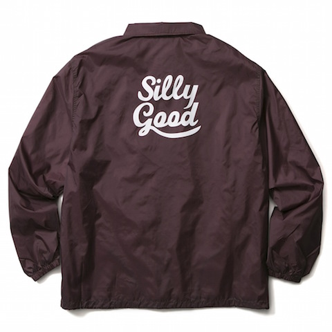 SILLY GOOD / SWEET LOGO COACH JKT (MAROON)
