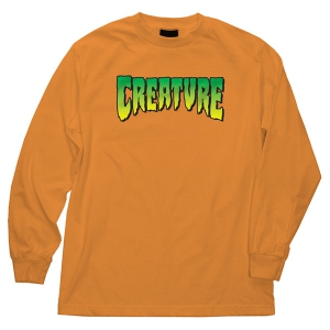 CREATURE / CREATURE LOGO L/S TEE (ORANGE)