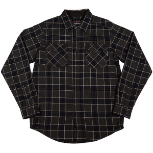 INDEPENDENT / HATCHET L/S FLANNEL SHIRT (GREY/BLACK/CHARCOAL)