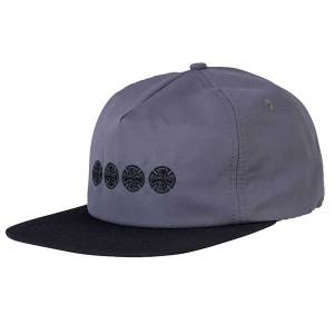 INDEPENDENT / CHAIN CROSS SNAPBACK CAP (CHARCOAL/BLACK)