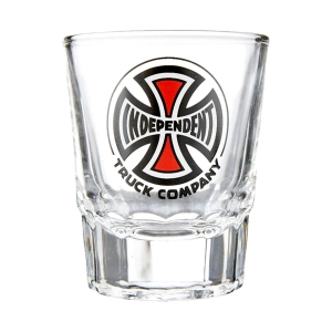 INDEPENDENT / TRUCK CO. SHOT GLASS 3 OZ. (CLEAR)