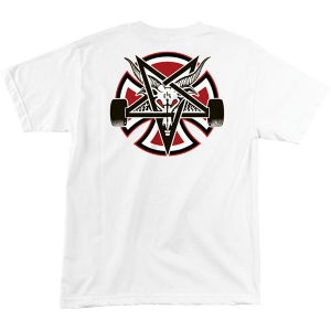 INDEPENDENT X THRASHER / PENTAGRAM CROSS TEE (WHITE)