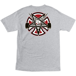 INDEPENDENT X THRASHER / PENTAGRAM CROSS TEE (ATHLETIC HEATHER)