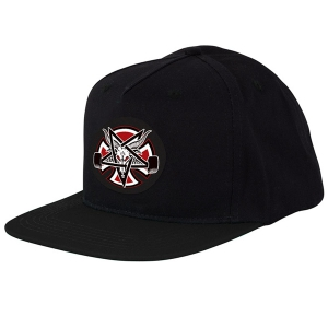 INDEPENDENT X THRASHER / PENTAGRAM CROSS SNAPBACK CAP (BLACK)