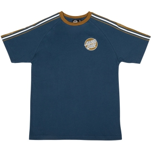 SANTA CRUZ / MISSING STRIPED S/S RAGLAN TEE (NAVY)