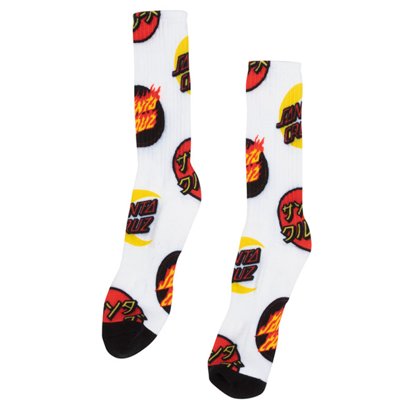 SANTA CRUZ / DOT GROUP SOCKS (LT. GREY/RED)