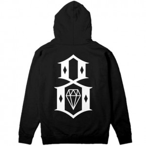 REBEL8 / LOGO ZIP-UP HOODIE (BLACK)