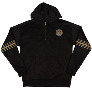 SANTA CRUZ / MISSING STRIPED PULLOVER HOODIE (BLACK)