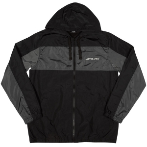 SANTA CRUZ / PANEL STRIP HOODED WINDBREAKER JACKET (BLACK/CHARCOAL)
