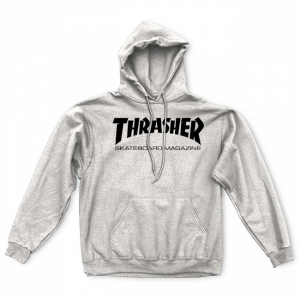THRASHER / SKATE MAG PULLOVER HOODIE (GRAY)