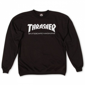 THRASHER / SKATE MAG CREWNECK SWEAT (BLACK)