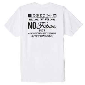 OBEY / OBEY NO FUTURE BASIC TEE (WHITE)