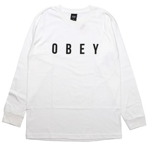 OBEY / ANYWAY BASIC L/S TEE (WHITE)