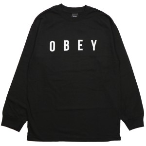 OBEY / ANYWAY BASIC L/S TEE (BLACK)