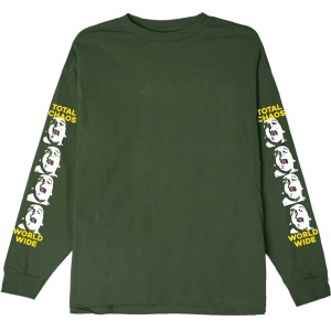 OBEY / TOTAL CHAOS BASIC L/S TEE (FOREST GREEN)