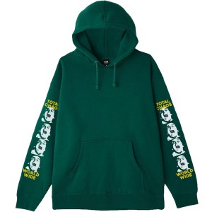 OBEY / TOTAL CHAOS PULLOVER HOODIE (ALPINE GREEN)