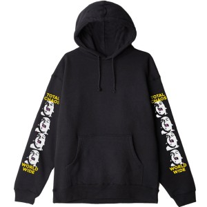 OBEY / TOTAL CHAOS PULLOVER HOODIE (BLACK)