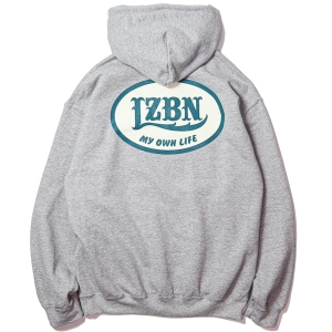 LZBN / OVAL LOGO PULLOVER HOODIE (HEATHER GREY)