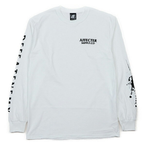 AFFECTER / SPLASH L/S TEE (WHITE)