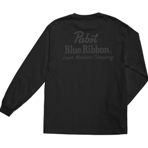 LOSER MACHINE / LMC X PBR FINISH LINE L/S TEE (BLACK)