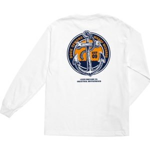 LOSER MACHINE / WHARF WIZARDS L/S TEE (WHITE)